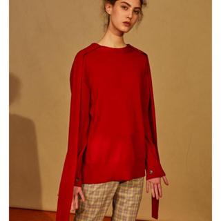 ルシェルブルー(LE CIEL BLEU)のIRENE merino wool knit アイレネ(ニット/セーター)