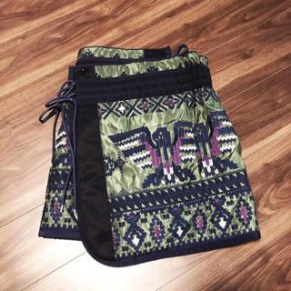 サカイ(sacai)のsacai ネイティブ 刺繍 巻きスカート スカート skirt サカイ(ひざ丈スカート)