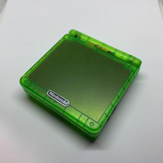 ゲームボーイアドバンス(ゲームボーイアドバンス)のGBA ゲームボーイアドバンスSP クリアグリーン(携帯用ゲーム機本体)
