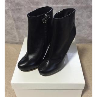 マルタンマルジェラ(Maison Martin Margiela)の黒37新品 メゾン マルジェラ レディース アンクル ショートブーツ ブラック(ブーツ)