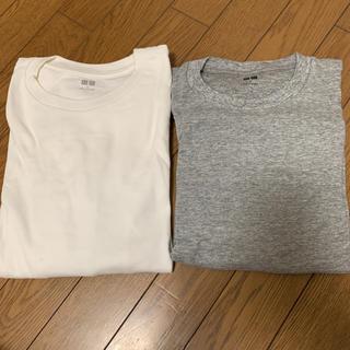 ユニクロ(UNIQLO)のUNIQLOユニクロ綿100%長袖2点セット(Tシャツ/カットソー(七分/長袖))