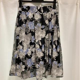 ミスティウーマン(mysty woman)の花柄のスカート(ひざ丈スカート)