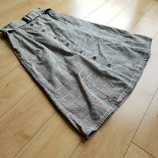 バックナンバー(BACK NUMBER)のBACK NUMBER バックナンバー ライトオン 共ベルト付ロングスカート(ひざ丈スカート)