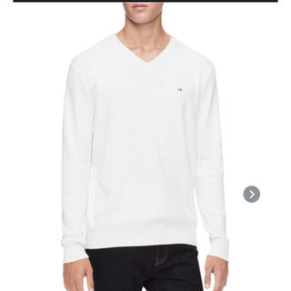 カルバンクライン(Calvin Klein)のCalvinKleinメンズリブVネックプルオーバーセーター(ニット/セーター)