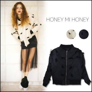 Honey mi Honey - HONEY MI HONEY リボンブルゾン