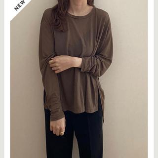 トゥデイフル(TODAYFUL)のsee-through long tee seek Tシャツ(Tシャツ/カットソー(七分/長袖))