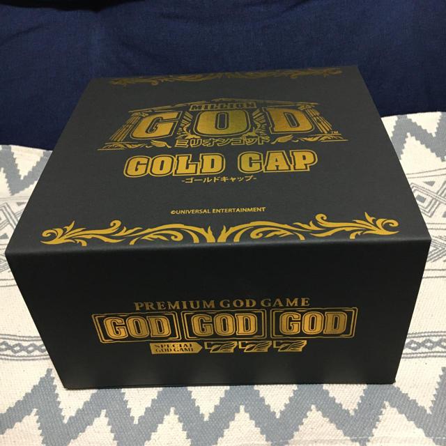 UNIVERSAL ENTERTAINMENT(ユニバーサルエンターテインメント)の【GGC】 新品未使用 ミリオンゴッド ゴールド キャップ エンタメ/ホビーのテーブルゲーム/ホビー(パチンコ/パチスロ)の商品写真