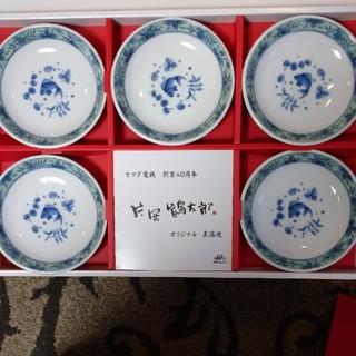 新品 美濃焼 片岡鶴太郎 小皿 5個セット(食器)