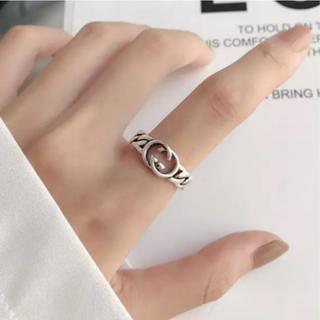 グッチ(Gucci)の♯11 アンティーク チェーンデザイン クール S925 GGリング(リング(指輪))
