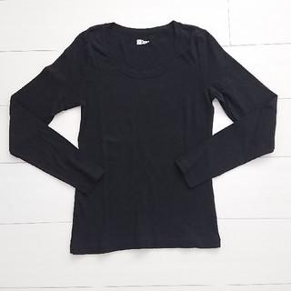 ギャップ(GAP)のGAP ギャップ長袖 Tシャツ カットソー ロンT 黒 M 新品(Tシャツ(長袖/七分))