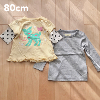 ベルメゾン(ベルメゾン)の子供服 まとめ売り 80 女の子 トップス カットソー 長袖 7分袖 セット(シャツ/カットソー)