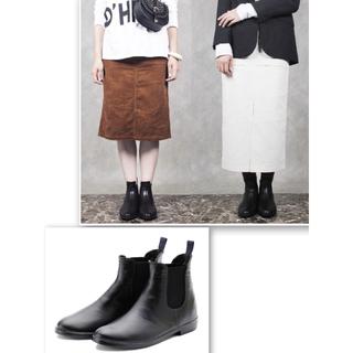 レインファブス  サイドゴアレインブーツ リゲンダブルS  23cm  ブラック(長靴/レインシューズ)