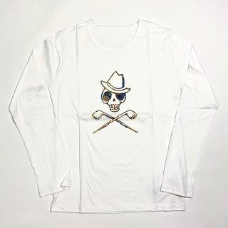 マークアンドロナ(MARK&LONA)の【Alessandro-droshky】手捺染ロングTシャツ S 白(Tシャツ/カットソー(七分/長袖))