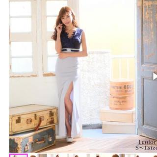 デイジーストア(dazzy store)のdazzystore グラマラスフラワーモチーフ付きタイトロングドレス(ロングドレス)