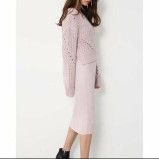 リエンダ(rienda)のPlump Tops RIB Knit SET OP(ニット/セーター)