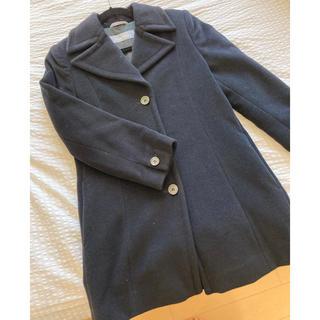 マックスマーラ(Max Mara)のマックスマーラ。黒のトレンチ型ウールコート。とても軽く万能です。(チェスターコート)