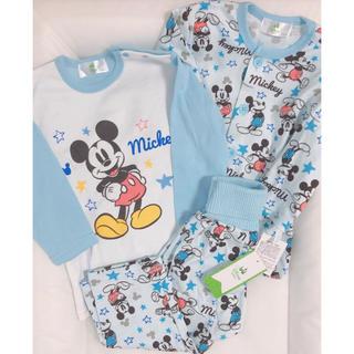 Disney - 新品 ディズニー ミッキー   長袖パジャマ 長ズボン 3点セット 80サイズ