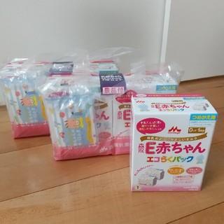 モリナガニュウギョウ(森永乳業)の森永 E赤ちゃん エコらくパック つめかえ用 5箱セット (その他)