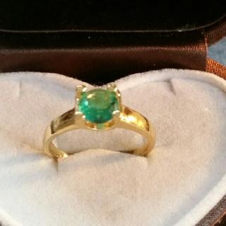 ◆16◆ グリーン ゴールドリング(リング(指輪))