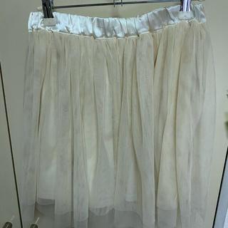 アクシーズファム(axes femme)のチュールスカート ホワイト(ミニスカート)