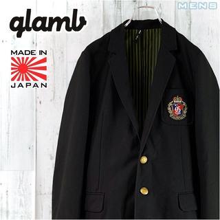 グラム(glamb)のglamb エンブレム刺繍入り金ボタン総裏地テーラードジャケット 2 ブレザー(テーラードジャケット)