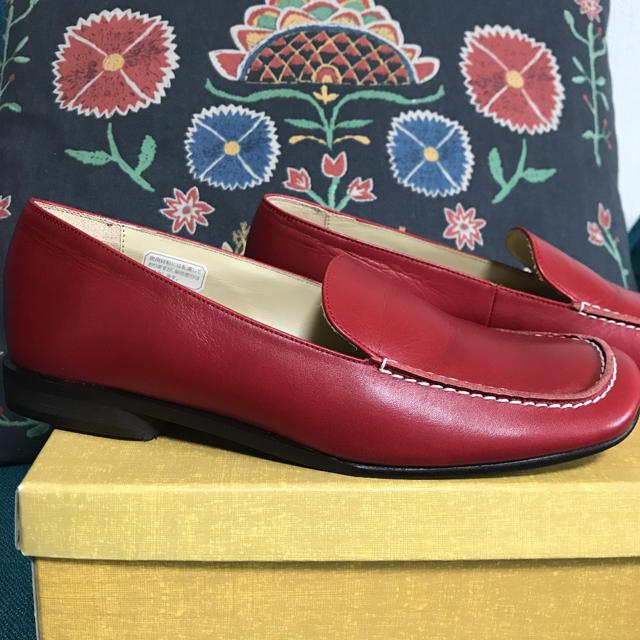 REGAL(リーガル)のリーガル レディース ローファー 革靴 レッド レディースの靴/シューズ(ローファー/革靴)の商品写真