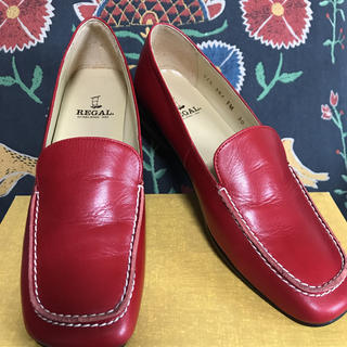 REGAL - リーガル レディース ローファー 革靴 レッド
