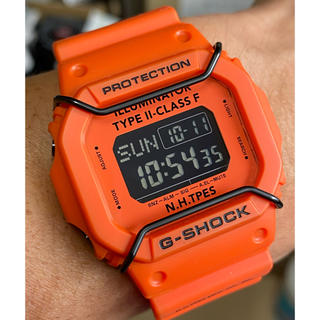 ジーショック(G-SHOCK)のコラボ/G-SHOCK/エヌハリウッド/限定/スピード/オレンジ/DW-5600(腕時計(デジタル))