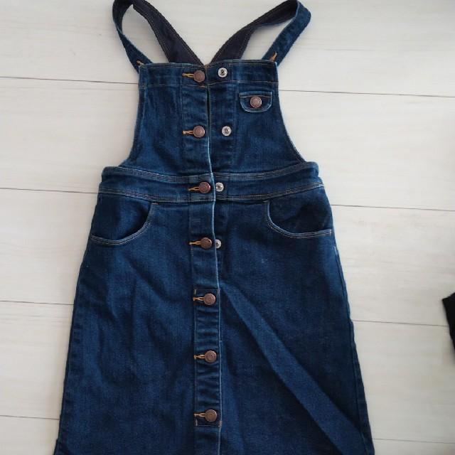 GU(ジーユー)のジャンパースカート 120 キッズ/ベビー/マタニティのキッズ服女の子用(90cm~)(スカート)の商品写真