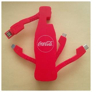コカコーラ(コカ・コーラ)の≪コカコーラ≫オリジナルマルチ充電ケーブル(バッテリー/充電器)