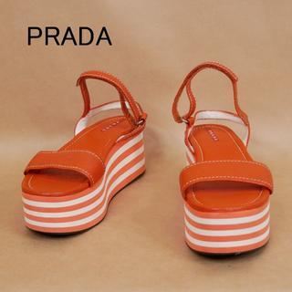 PRADA - PRADA プラダ 35 1/2 イタリア製 厚底サンダル