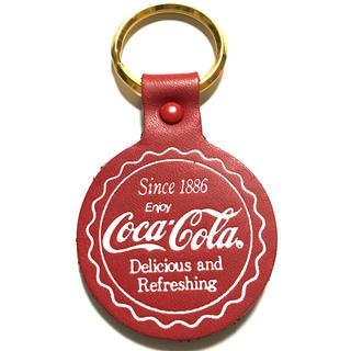 コカコーラ(コカ・コーラ)の本革コカ・コーラキーホルダー☆レア非売品コレクション(ノベルティグッズ)