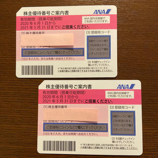 エーエヌエー(ゼンニッポンクウユ)(ANA(全日本空輸))の☆ANA株主優待券2枚セット☆(航空券)