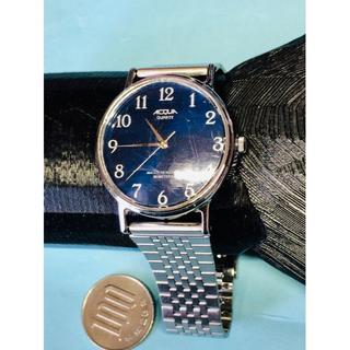 タイメックス(TIMEX)のX16)マリンブルー(*'▽')タイメックス・アクア電池交換済みメンズ(腕時計(アナログ))