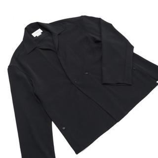 サンシー(SUNSEA)のyoke 20ss shirt cardigan black(s) ほぼ未使用(カーディガン)