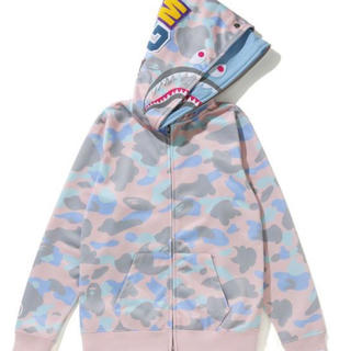 A BATHING APE PASTEL MULTI CAMO パーカー