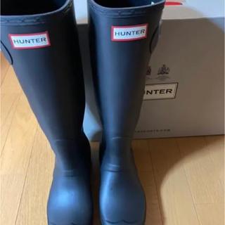 ハンター(HUNTER)のハンター HUNTER WOMENS ORG TALL (BLK)24cm 新品(レインブーツ/長靴)