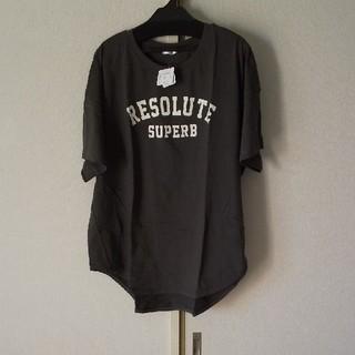 タイムsale!墨色ロゴプリントTシャツ(Tシャツ(半袖/袖なし))