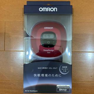 オムロン(OMRON)のOMRON オムロン ねむり時間計 レッド HSL-004T(その他)