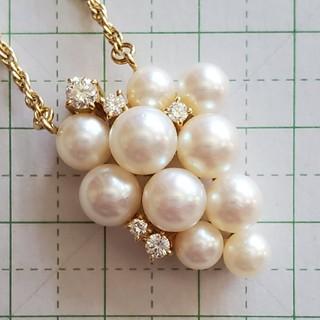 ポーラ(POLA)のポーラジュエリー あこや真珠 ダイヤモンド ネックレス(ネックレス)