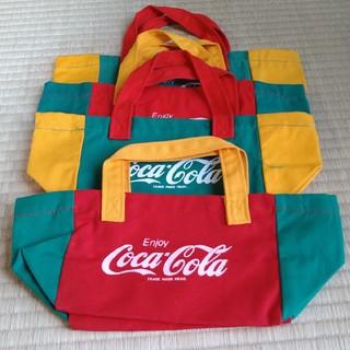コカコーラ(コカ・コーラ)のコカ・コーラ非売品トートバッグ4枚セット(ノベルティグッズ)