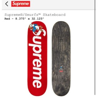 シュプリーム(Supreme)のRed Supreme smurfs skateboard deck (その他)