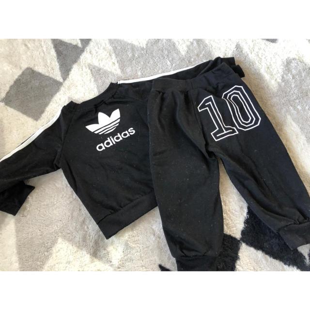 adidas(アディダス)のadidas 秋冬 セットアップ キッズ/ベビー/マタニティのベビー服(~85cm)(トレーナー)の商品写真