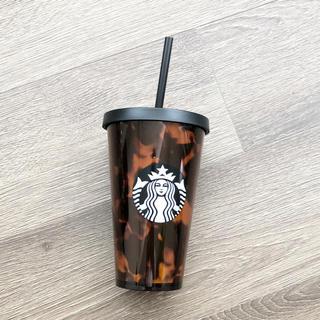 スターバックスコーヒー(Starbucks Coffee)のスターバックス ロゴコールドカップタンブラー べっ甲 473ml(タンブラー)