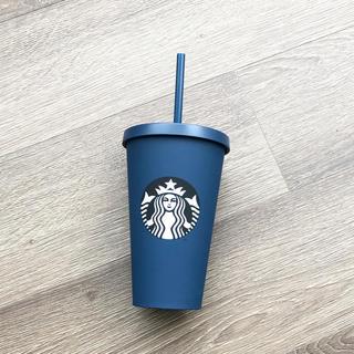 スターバックスコーヒー(Starbucks Coffee)のスターバックス ロゴコールドカップタンブラー マットネイビー 473ml(タンブラー)