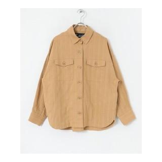サニーレーベル(Sonny Label)のサニーレーベル コットリネンオーバーシャツジャケット キャメル(その他)