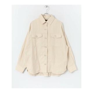 サニーレーベル(Sonny Label)のサニーレーベル コットリネンオーバーシャツジャケット オフホワイト(カットソー(長袖/七分))