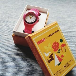 サクラクレパス(サクラクレパス)のCRAY-PAS 『クレパス柄トケイ』ワインレッド(腕時計)