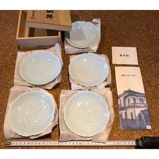 香蘭社 有田焼 青磁 小皿 12センチ程 5枚セット
