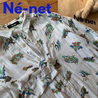 ネネット(Ne-net)のNé-net*総柄シャツワンピース(ロングワンピース/マキシワンピース)